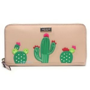 Kate Spade New Horizons Cactus Zip Around Wallet